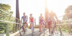 Rouler à vélo au printemps